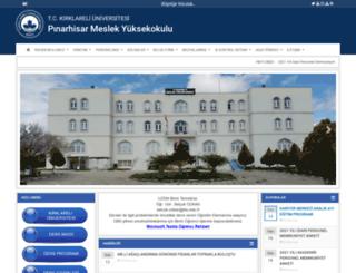 pmyo.klu.edu.tr screenshot