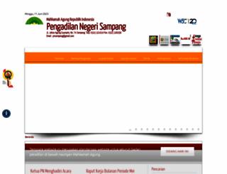 pn-sampang.go.id screenshot