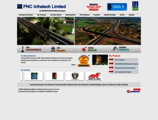 pncinfratech.com screenshot