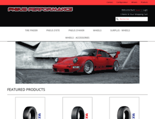 pneusperformance-com.3dcartstores.com screenshot