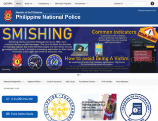 pnp.gov.ph screenshot