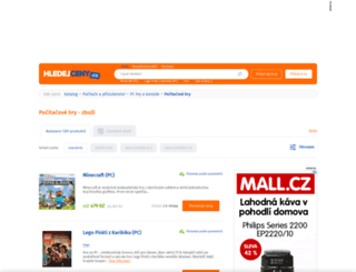 pocitacove-hry.hledejceny.cz screenshot