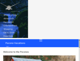 poconovacations.com screenshot
