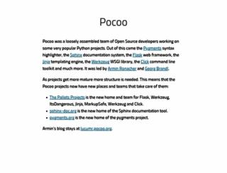 pocoo.org screenshot
