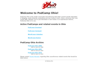 podcampohio.com screenshot