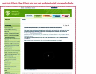 podcast.uni-wuppertal.de screenshot