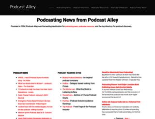 podcastalley.com screenshot