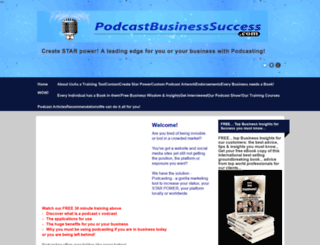 podcastbusinesssuccess.com screenshot