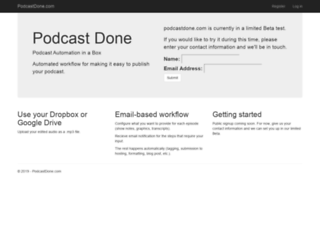 podcastdone.com screenshot