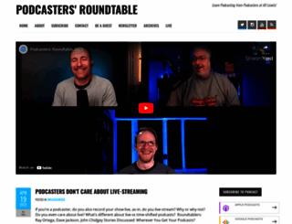 podcastersroundtable.com screenshot