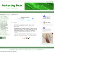 podcasting-tools.com screenshot