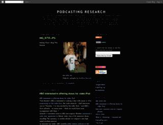 podcastingresearch.blogspot.com screenshot