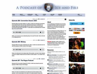 podcastoficeandfire.com screenshot