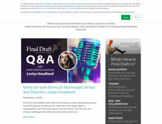 podcasts.finaldraft.com screenshot