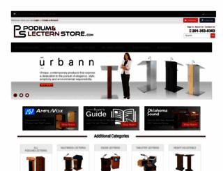 podiumandlecternstore.com screenshot
