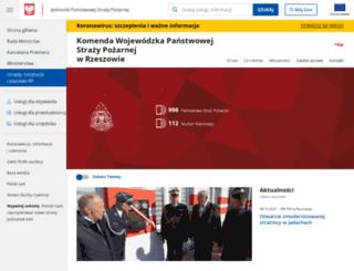 podkarpacie.straz.pl screenshot