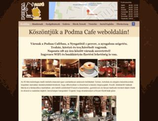 podmacafe.hu screenshot