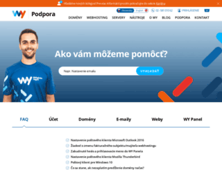 podpora.vasadomena.sk screenshot