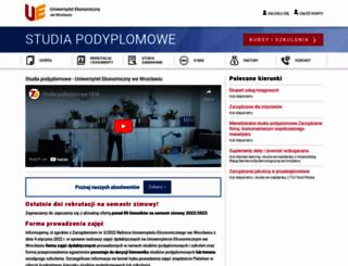 podyplomowe.ue.wroc.pl screenshot