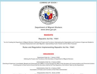 poea.gov.ph screenshot