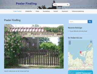 poeler-findling.de screenshot
