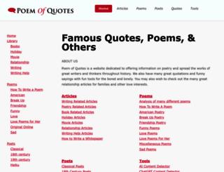 poemofquotes.com screenshot