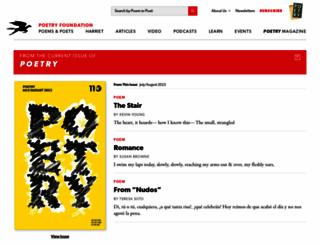 poetrymagazine.org screenshot
