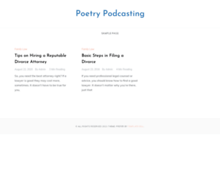 poetrypodcasting.org screenshot