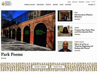 poetrysociety.org screenshot
