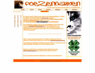 poezennamen.nl screenshot