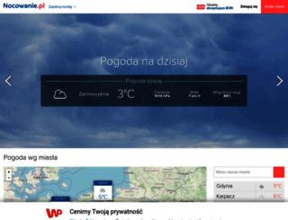 pogoda.nocowanie.pl screenshot