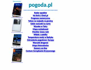 pogoda.pl screenshot