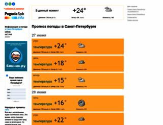 pogodaspb.info screenshot