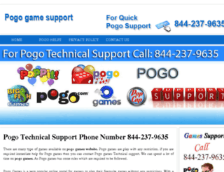 pogogamesupport.com screenshot