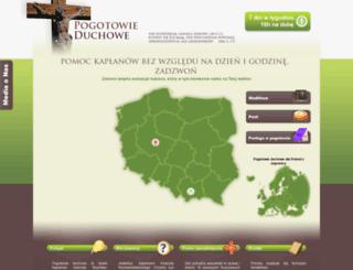 pogotowieduchowe.pl screenshot