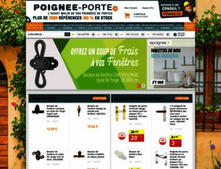 poignee-porte.fr screenshot