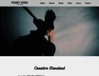 point-zero.jp screenshot
