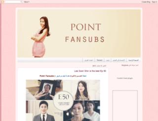 pointfansubs.blogspot.com screenshot