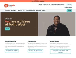 pointwestcu.com screenshot