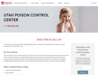 poisoncontrol.utah.edu screenshot