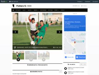poitiers-fc.footeo.com screenshot