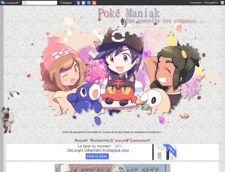poke-maniak.forumactif.org screenshot