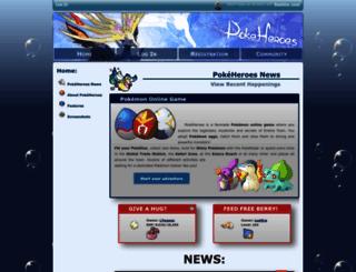 pokeheroes.com screenshot