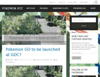 pokemon-xyz.com screenshot