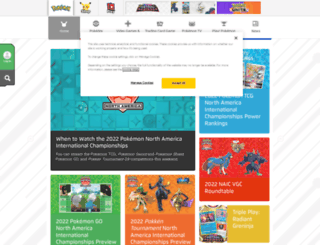 pokemon.com screenshot