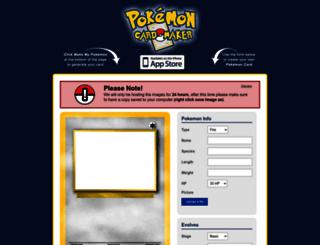 pokemoncardapp.com screenshot