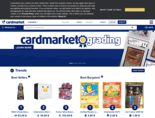 pokemoncardmarket.eu screenshot