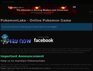 pokemonlake.com screenshot