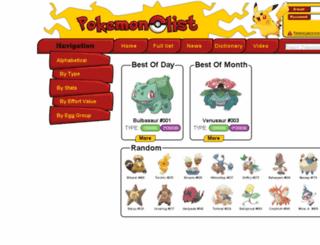 pokemonlist.net screenshot