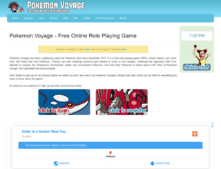 pokemonvoyage.com screenshot